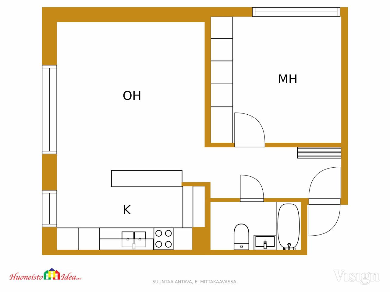 Pakkahuoneenkatu 8 Huoneisto Idea Lkv Kiinteistonvalitys Oulu